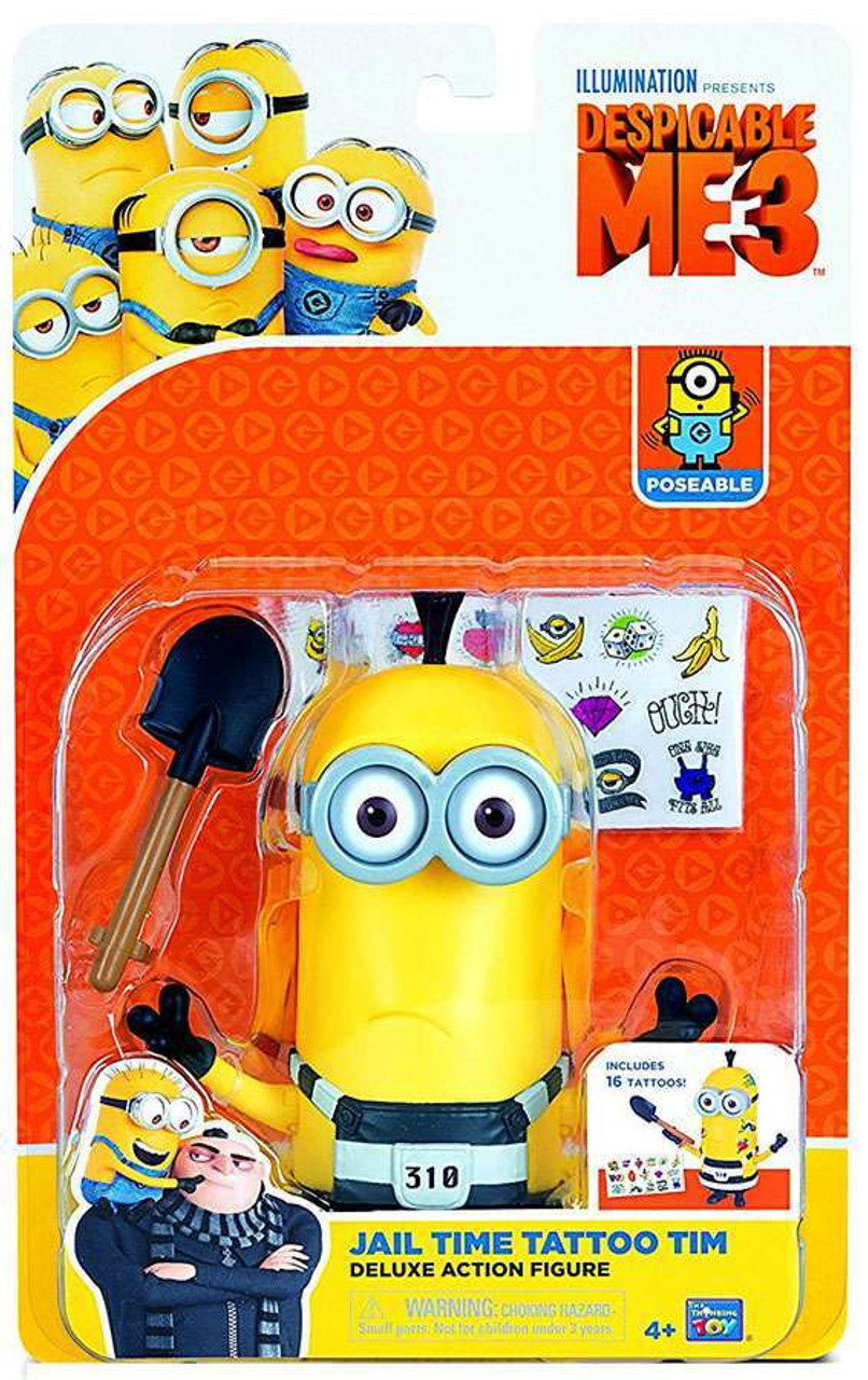 Despicable Me 3 Jail Time Tattoo Tim Deluxe Action Figure