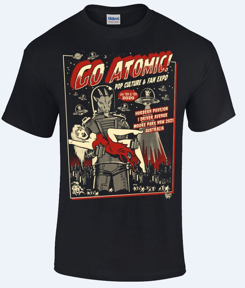 Go Atomic! T-shirt (L, XL and 2XL)