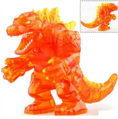 Minifigure (Large) Orange Godzilla