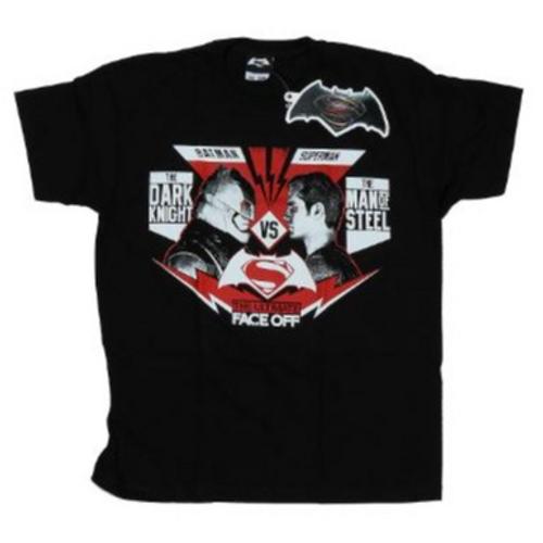 DC Comics - Batman v Superman Face Off T-Shirt - SIZE MEDIUM