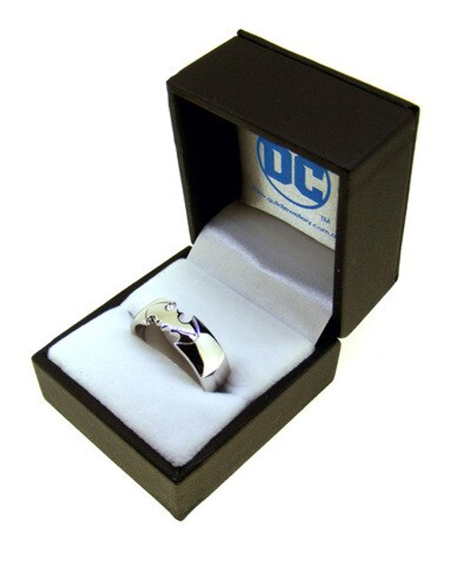 Batman Sterling Silver Ring - Size Q