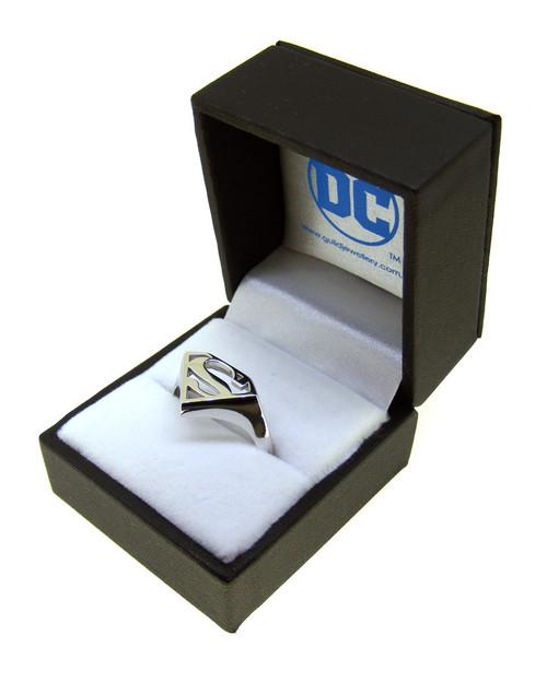 Superman Sterling Silver Signet Ring