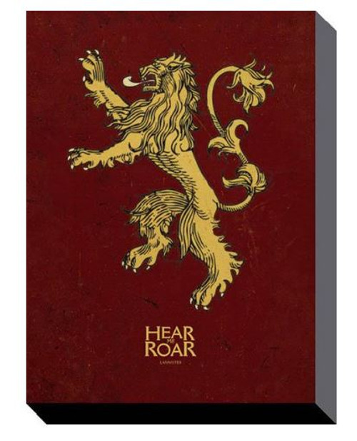 Game of Thrones - Lannister Sigil - Canvas