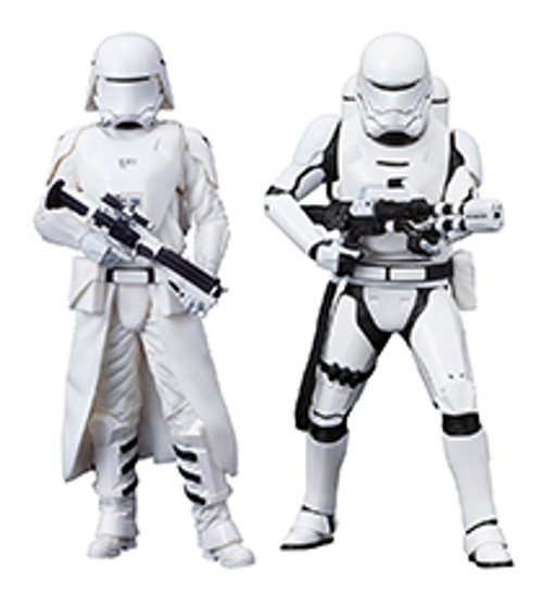 STAR WARS THE FORCE AWAKENS First Order Snowtrooper & Flametrooper ArtFX+ Statue