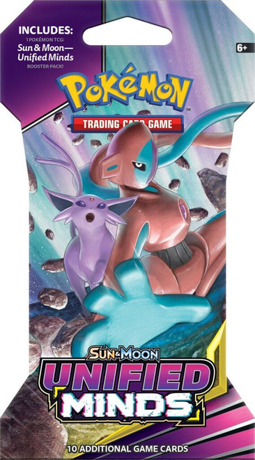 Pokemon TCG: Sun & Moon Unified Minds - Single Blister (10 Cards)