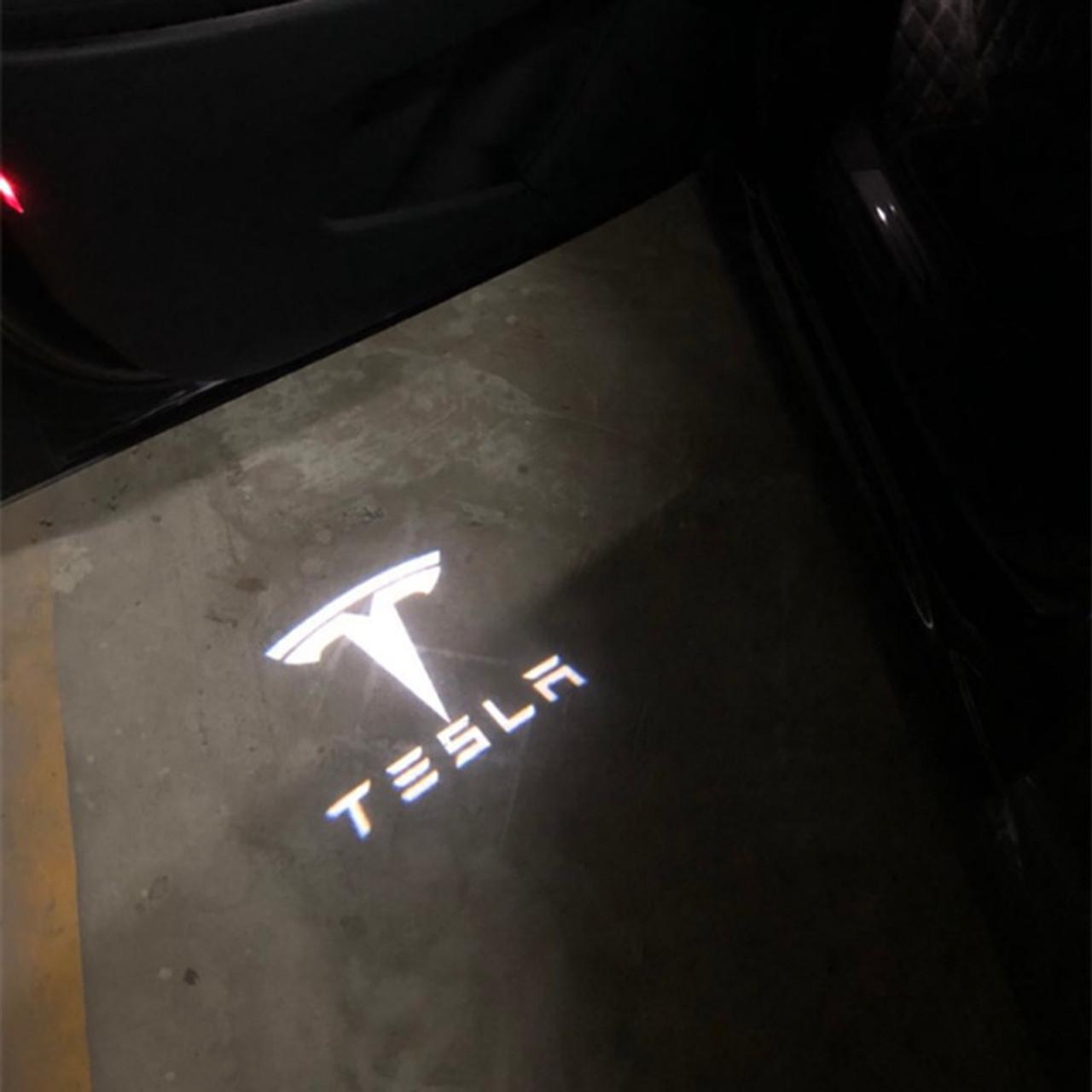 Tesla 2PCS led Logo Projector Door Courtesy Welcome Light for Tesla MODEL 3  MODEL S MODEL X