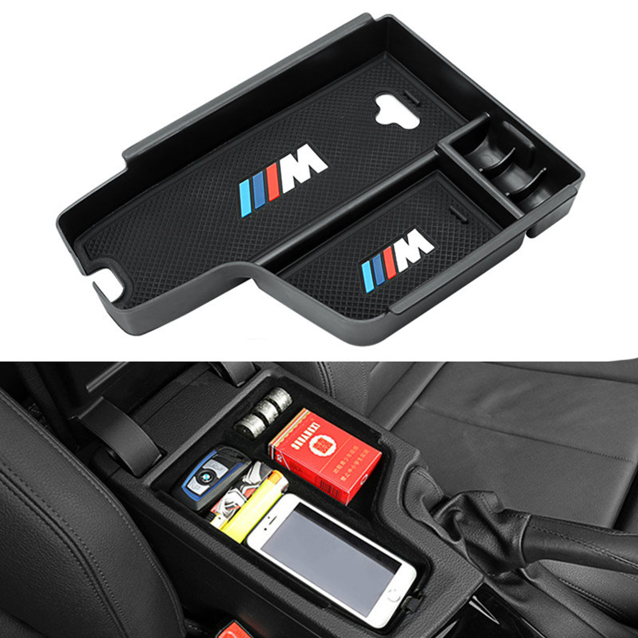 Buy Bmw Car Styling M Logo Center Console Armrest Box Storage For Bmw F30 F31 320i 325i F32 High Quality Trusted Automotive Car Spare Parts And Accessories Cool Gadgets Badges Logo From