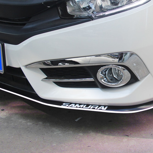 2.5m Car Protector Front Bumper Lip skirt Splitter Body Kit Rubber Double color Car Styling