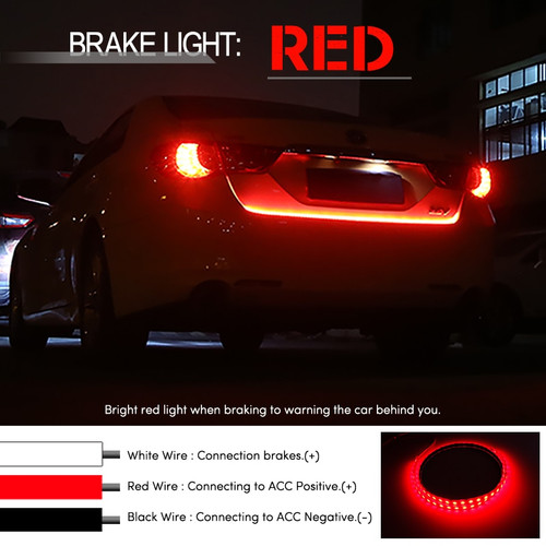 Yellow Red Blue White 150cm Rear Led Trunk Light Strip
