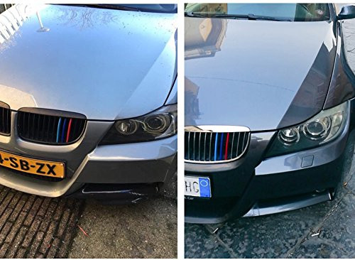 Car Front Grille Strip Insert Trim Cover for BMW 3 Series E46 98-01 3D M-Colored Stripes 10 Beams