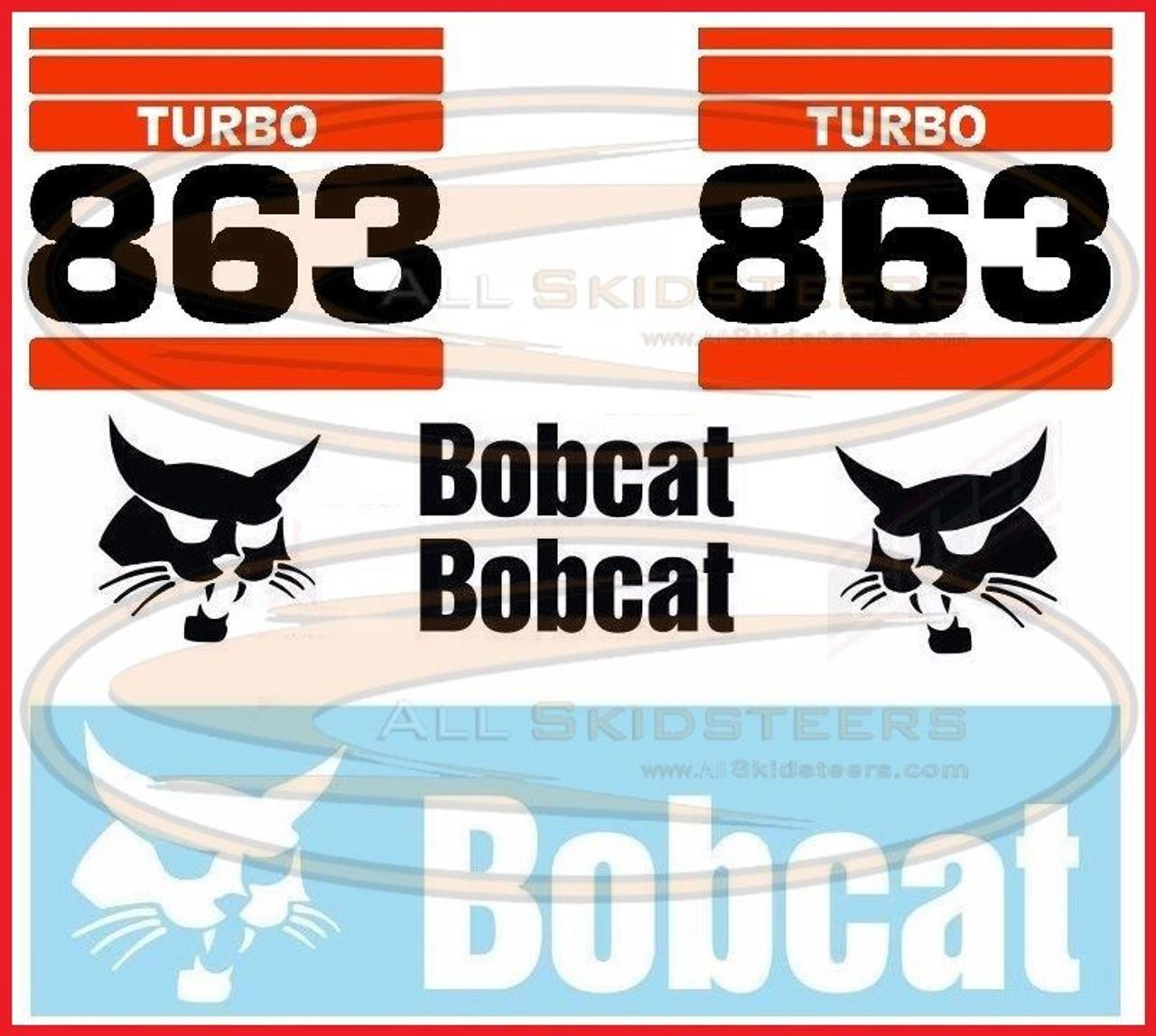 863 Decal Sticker Kit for Bobcat® Skid Steers - AK- 6731474-TK