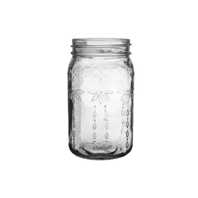 """Jardin Vintage Jar 6 1/2"""" Clear 24cs."""