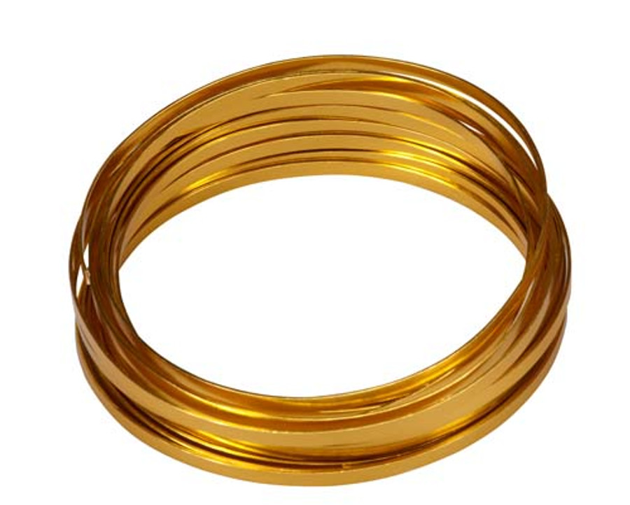 WIRE FLAT GOLD roll EA