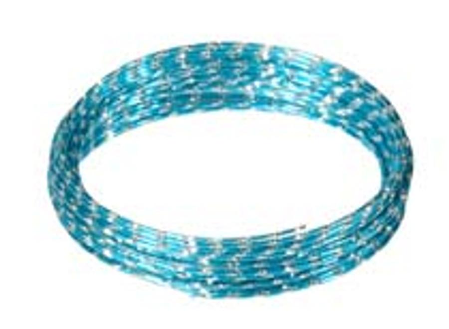 12 Gauge Diamond Wire Turq 32'