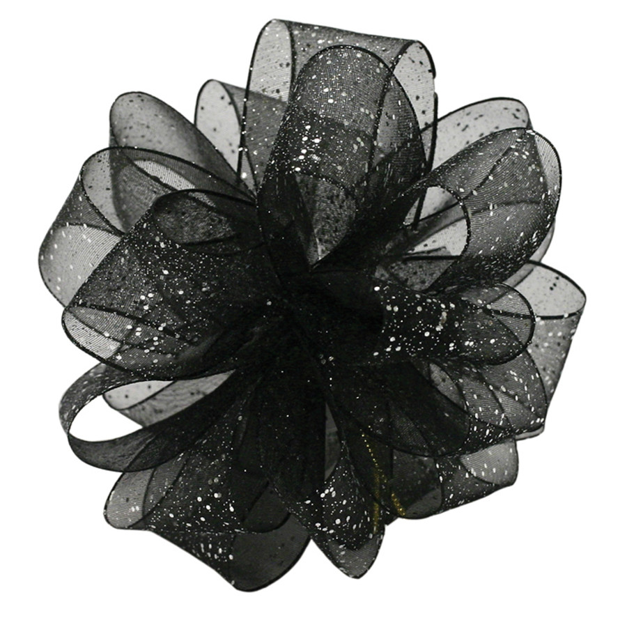 #3 BLK/SIL wired flash corsage