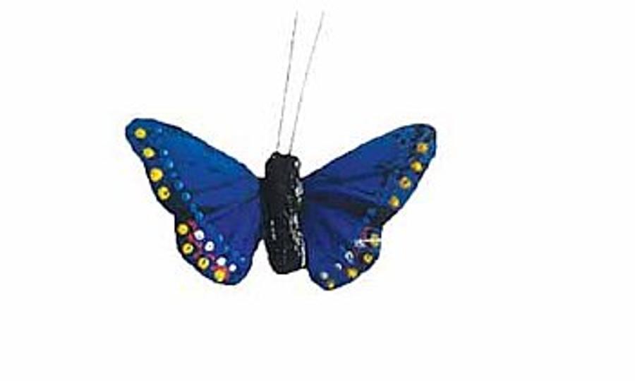 """Butterfly 3"""" BLUE 1DZ #DP1008"""