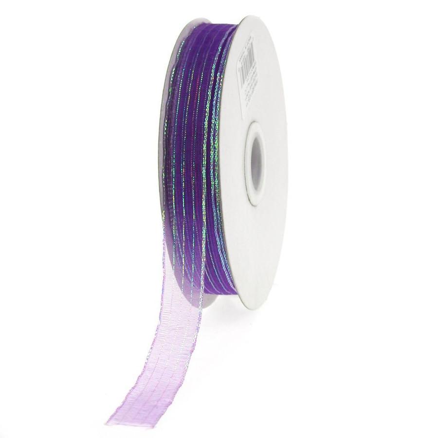 #3 STRIPED chiffon purple 50yrds