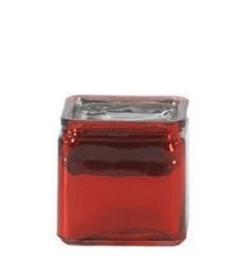 "CUBE Metallic Red Glass 4""x4""x4"" each"
