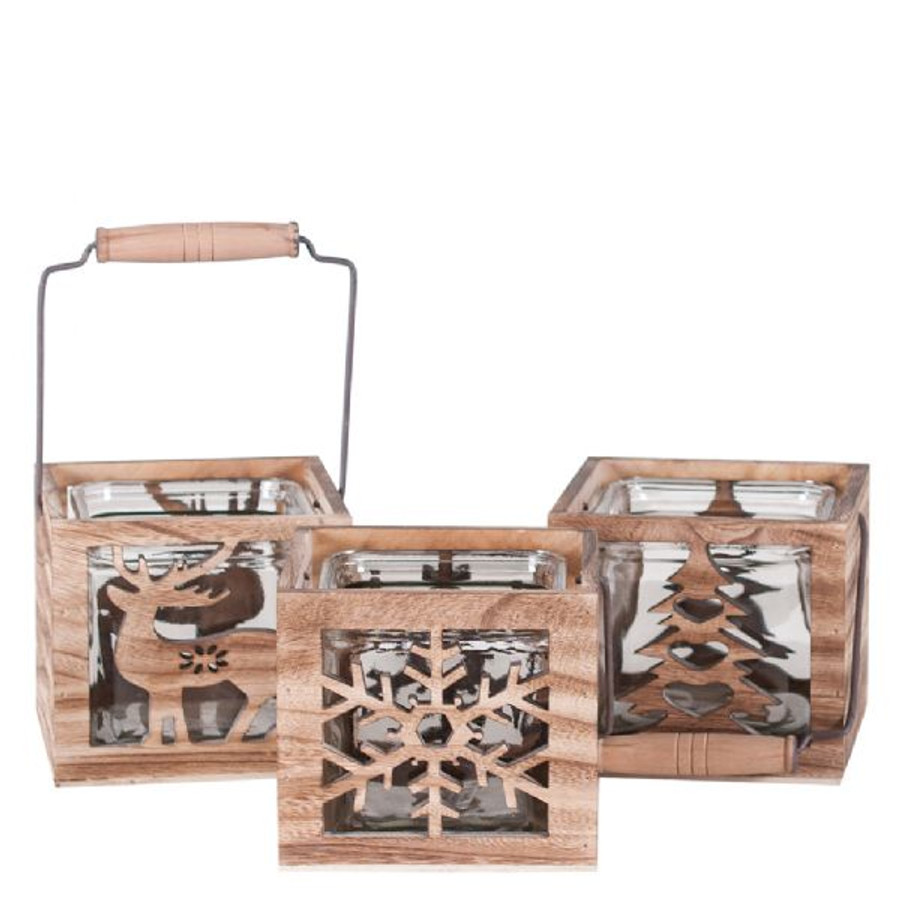 "Rustic wood seasons 5""x5""x5 planters each"