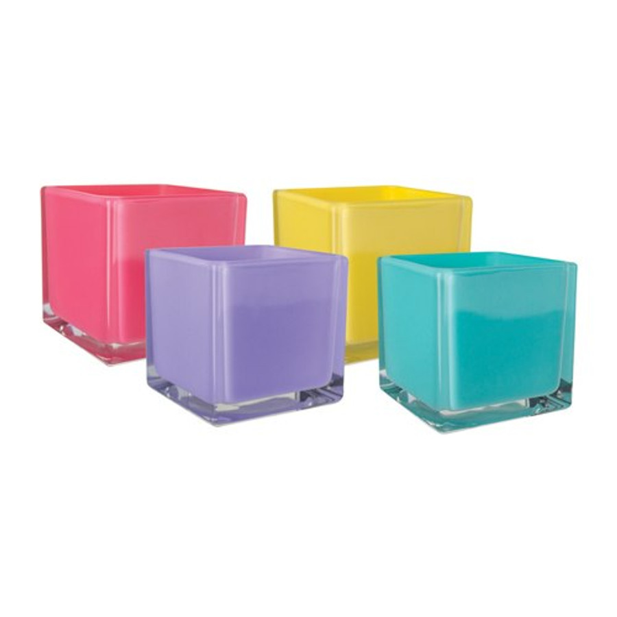 "Cubes 4""x4""x4"" Opaque Lollipop 12cs"