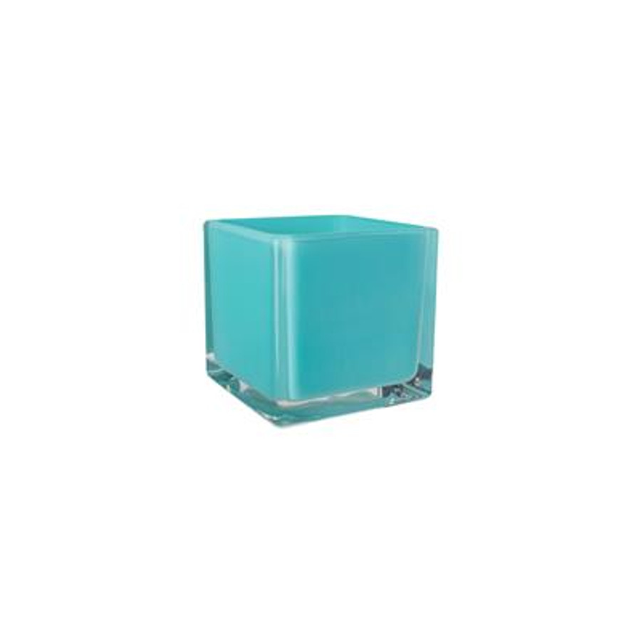 Cubes 4x4x4 opaque lollipop aqua 12/cs