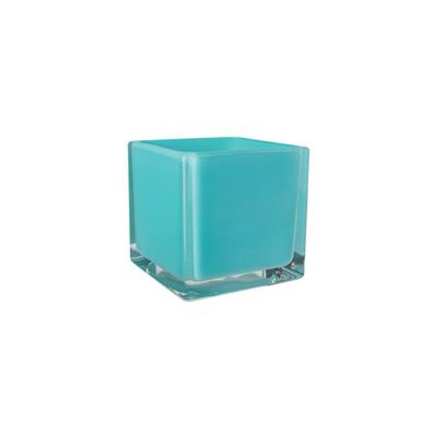 Cubes 5x5x5 opaque lollipop aqua 6/cs