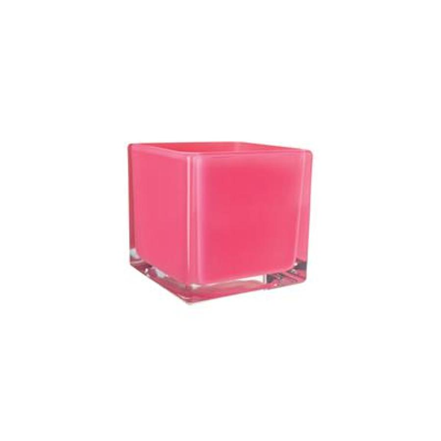 Cubes 5x5x5 opaque lollipop pink 6/c