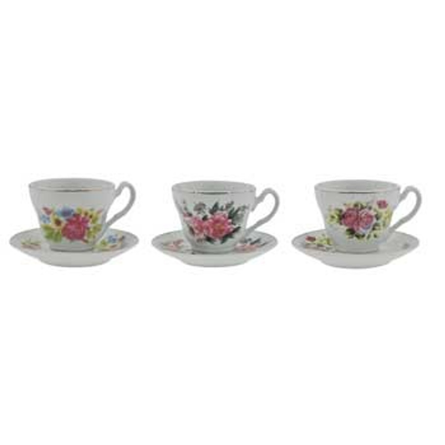 Cup and Saucers 6/bx