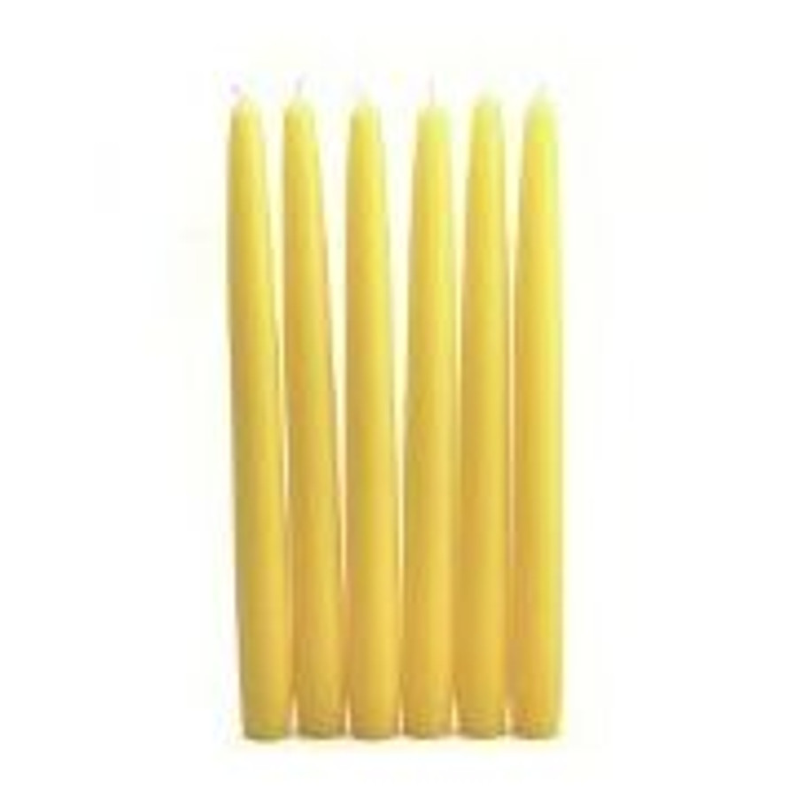 """Candle Taper 12"""" Yellow 12bx"""
