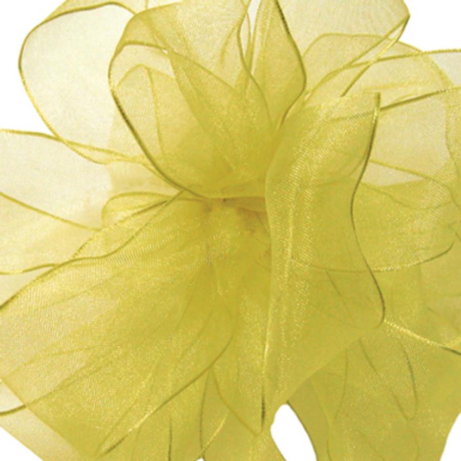 #3 CHIFFON yellow 25 yrds.