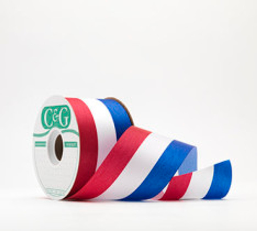 #3 PATRIOTIC ribbon 50 yrds.