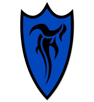 F-Shield Sticker (Black/Blue)