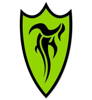 F-Shield Sticker (Black/Green)
