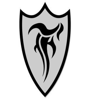 F-Shield Sticker (Black/Silver)