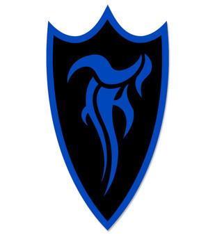 F-Shield Sticker (Blue/Black)