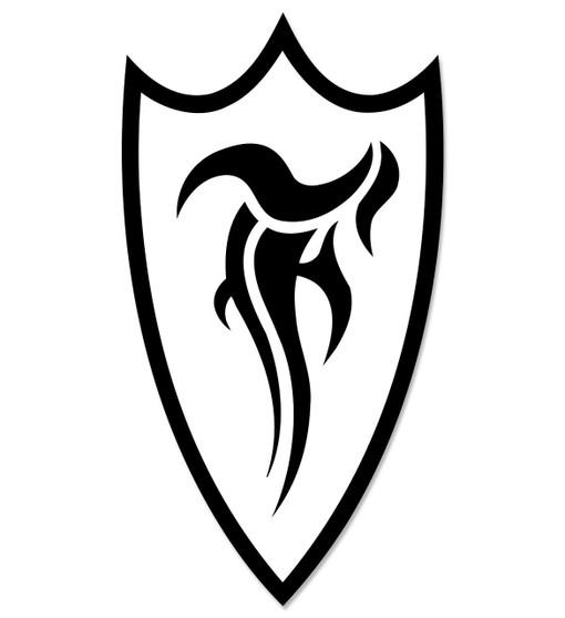 F-Shield Sticker (Black/White)