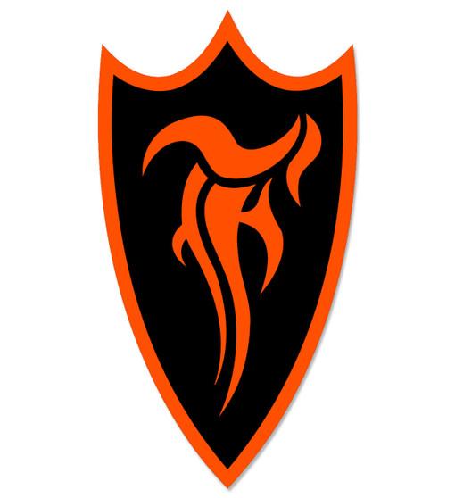 F-Shield Sticker (Orange/Black)