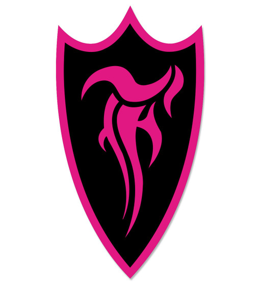 F-Shield Sticker (Pink/Black)