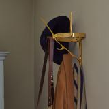 Modernist Brass Coat Rack