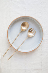 Brass Salad/Serving Set