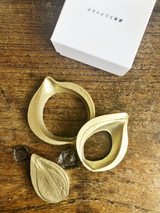 Japanese Brass Onion Coaster Set