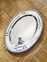 Massive Silver Plated Tray from The Stevens Hotel Chicago