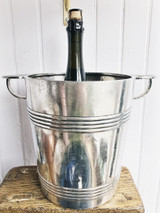 Antique Christofle Silver Champagne Bucket from Hotel George V Paris