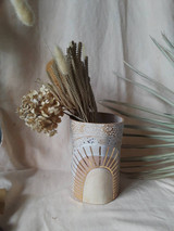 Stoneware Vase with 22k Detail