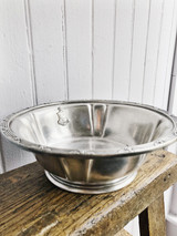 Vintage Silver Plated Serving Bowl from The Stevens Hotel Chicago