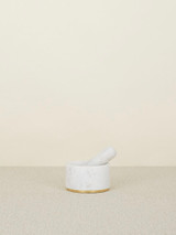 Brass + Marble Mortar and Pestle