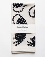 Black Cat Tea Towel