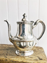 1930 Silver Plated Teapot from The Plaza Hotel in NYC