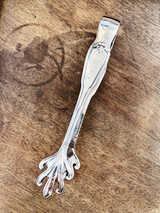 1920s Silver New York Central Railroad Ice Tongs