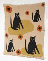 Black Cat Knit Blanket